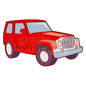 red jeep clipart royalty free red jeep 172599 vector clip art image eps