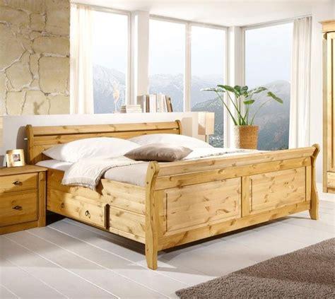 Massivholz Doppelbett Mit Schubladen 180x200 Kiefer Massiv
