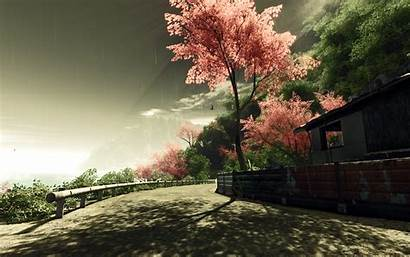 Country Road Autumn Desktop Fence Pixelstalk