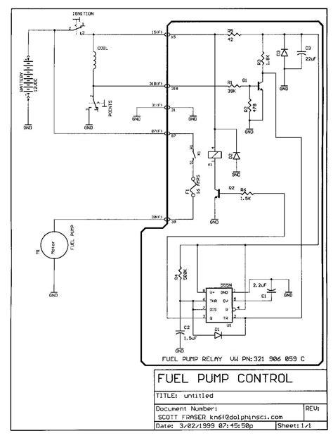 electric fuel pump wiring diagram gallery
