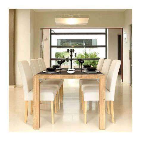 chaise tissu salle a manger chaise de salle à manger en bois et tissu tom mobitec 4