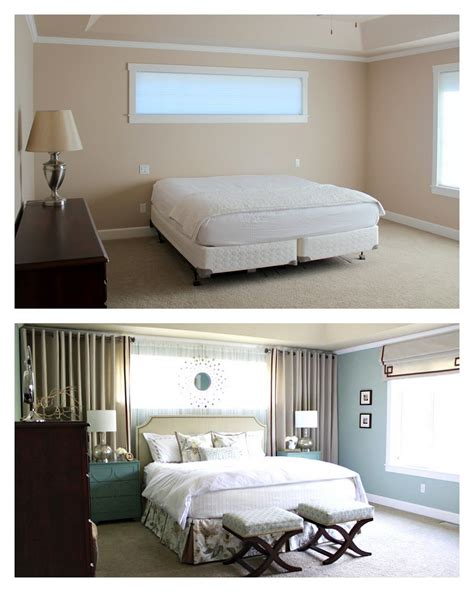 Bedroom Vs Window by Master Bedroom Reveal Curtains Around Bed Mirrors