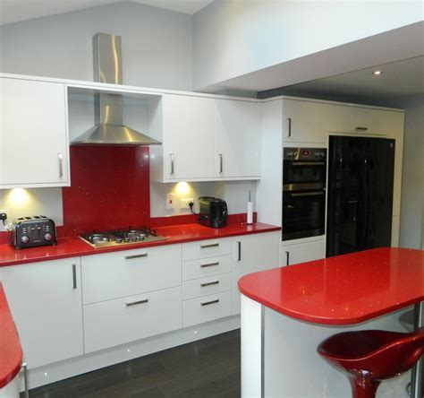 Red Laminate Fitting Kitchen Worktops Ideas For Kitchen