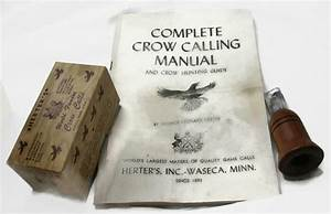Vintage 1947 Herters Crow Call W Complete Crow Calling