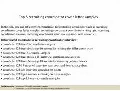 Cover Letter To Recruiter With Referral Technical Recruiter Cover Letter Sample LiveCareer Sample Email To Recruiter Sample Resume Format Recruiter Cover Letter Examples For Human Resources