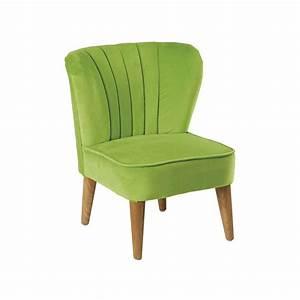 Fauteuil Vintage Pas Cher : fauteuil enfant vintage velours vert jack pier import ~ Teatrodelosmanantiales.com Idées de Décoration