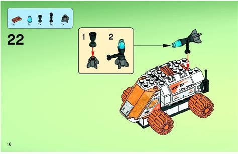 Lego Mt21 Mobile Mining Unit Instructions 7648, Mars Mission