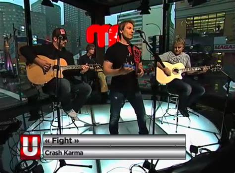 canadian rock band crash karma performs  juzd