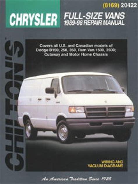 chilton car manuals free download 1994 dodge ram van b150 seat position control chilton dodge full size van 1989 1998 repair manual