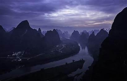 Yangshuo County Guilin China Sunrise Li River