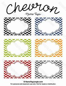 free printable chevron name tags the template can also be With free name tag templates for kids