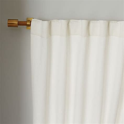 brighton matelasse curtain white west elm