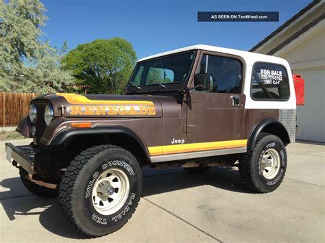 jeep cj renegade 1981 jeep cj7 cj 7 renegade sport utility 2 door 4 2l