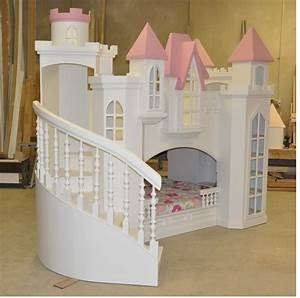 Braun Castle Bunk Bed - A Perfect Princess Castle Bed for