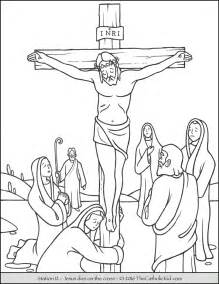Jesus Dies On the Cross Coloring Page