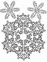 Coloring Snowflakes Winter Fascinating sketch template
