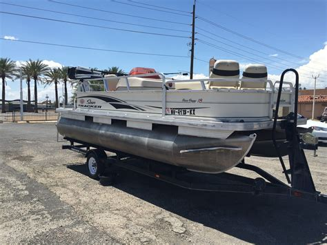 Tracker Pontoon Boats by Used Sun Tracker Pontoon Boats Used Free Engine Image