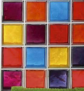 Brique De Verre Couleur : briques de verres multicouleurs brique de verre ~ Melissatoandfro.com Idées de Décoration
