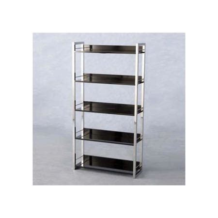 Black High Gloss Bookcase by Seconique Charisma High Gloss 5 Shelf Bookcase In Black