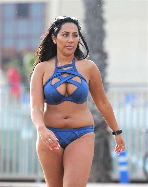 sophie marceau bikini sophie kasaei in blue bikini in dubai