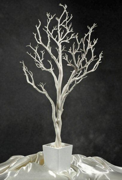 fiber optic christmas decorations white potted wedding tree 4 foot