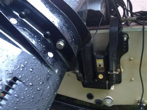 Boat Hull Leaking Water by Help Leaking From Weep Above Lower Unit The