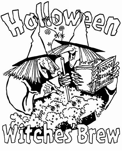 Halloween Witches Coloring Brew Pages Crayola