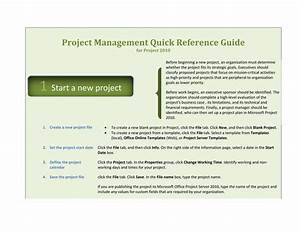 Project 2010 Quick Reference Guide Template For Word 2010