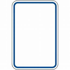Blue Border Blank Write-On Sign PKE-BLUE-BORDER-BLANK ...