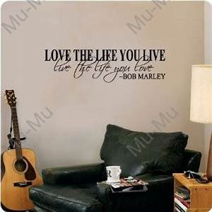 Bob marley quote wall decal decor love life words large