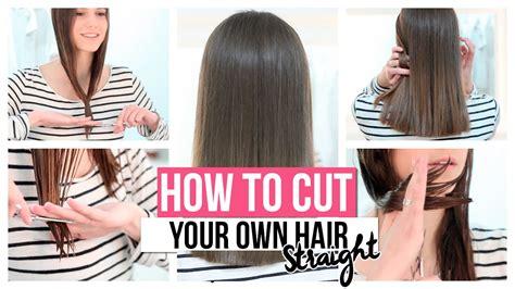 cut   hair straight youtube