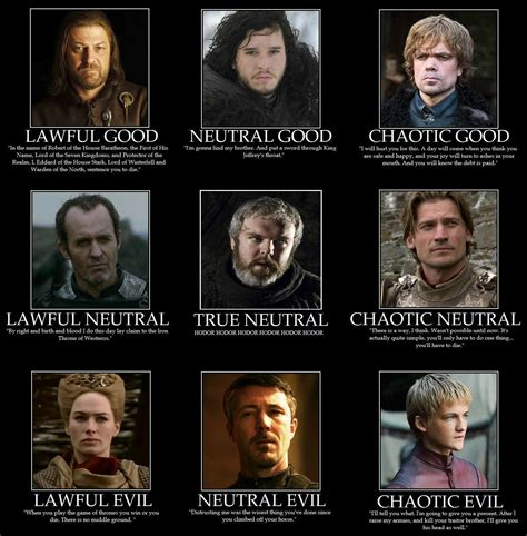 alignment charts  pinterest charts game  thrones