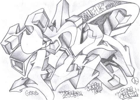 Grafiti Abjad Pensil : Graffiti Drawings