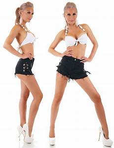 High waist hotpants schwarz