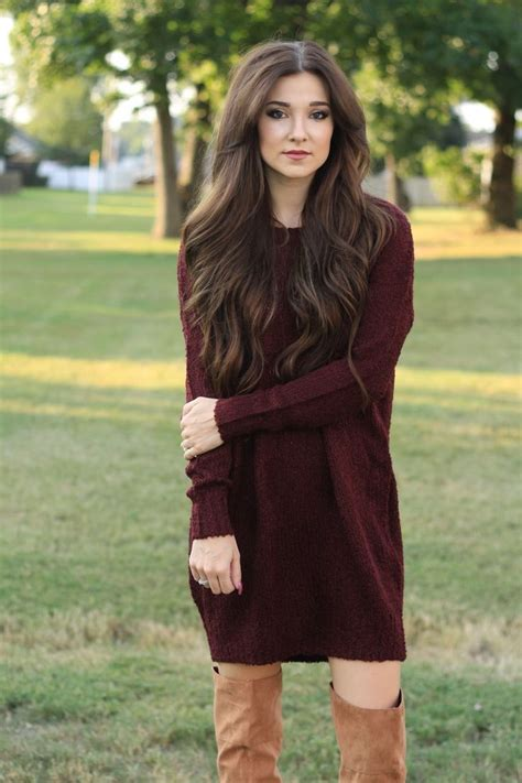 Sweater Dresses Outfit Ideas 2018 | FashionTasty.com