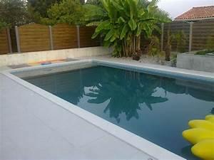 pose de margelle autour de la piscine piscine pas cher With pose de margelle piscine