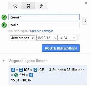 Fahrzeiten Berechnen : kooperation zwischen google und db google transit ~ Themetempest.com Abrechnung