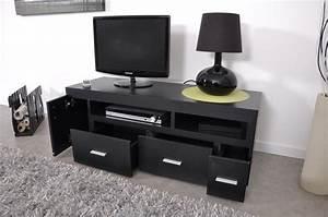 Meuble Tele Haut : meuble tv haut noir ~ Teatrodelosmanantiales.com Idées de Décoration