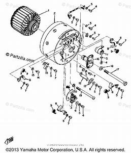 Yamaha Motorcycle 1974 Oem Parts Diagram For Starter