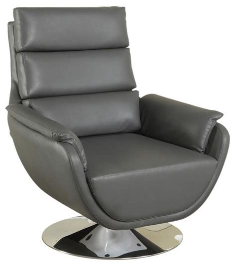 syncro faux leather swivel accent chair contemporary