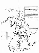 Coloring Pages Splinter Shredder Donatello Coloringtop sketch template