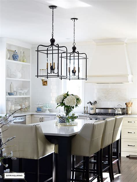 lantern lights kitchen island citrineliving in swing home tour 2017 8882