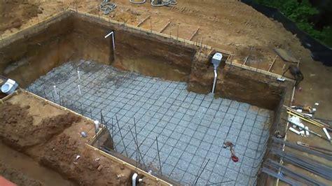 build   swimming pool  process step