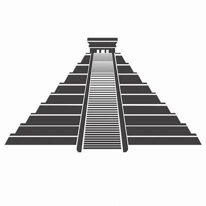 Aztec Pyramid Mayan Vector Mexico Icon Clipart