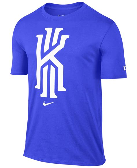 nike kyrie foundation logo graphic t shirt in blue for