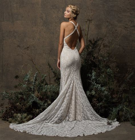 Dita Backless Boho Lace Wedding Dress Dreamers And Lovers