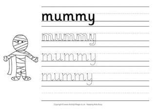 printable halloween handwriting worksheets  kids