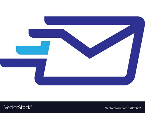 Fast Mail Logo Royalty Free Vector Image