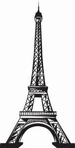 Vector Eiffel Tower Stock Image