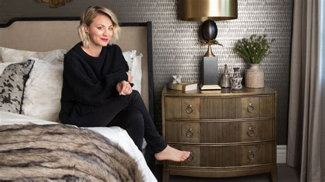 kaley cuocos guest bedroom  instylecom